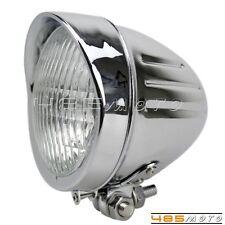 "Motorcycle Old School 4.5"" Headlight H4 Bulb Halogen Lamp Custom For Cafe Racer"