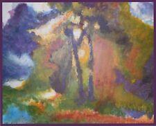 """Tableau original contemporain 49,5 x 39  """"Forêt Incendiée"""" 2018 - Michela Poulin"""