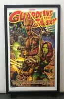ROCKIN' JELLY BEAN GUARDIANS OF THE GALAXY SILK SCREEN POSTER RARE SERIAL NUMBER