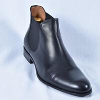 Herren Elegant Boots Stiefeletten Schwarz Neu Leder  Winter 42 43 44 Schuhe