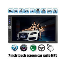 """7"""" 2 Din In-dash Bluetooth Car FM Radio Audio Stereo MP3 Player AUX Touch Screen"""