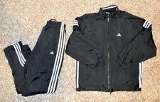 Vintage Adidas Jacket & Pants Exercise Gym Black White Classic Tracksuit Mens S