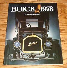 Original 1978 Buick Full Line Deluxe Sales Brochure 78 Electra Skylark LeSabre