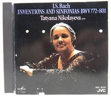 J.S. Bach Tatyana Nikolayeva Inventions and Sinfonias BWV 772 - 801 CD Japan