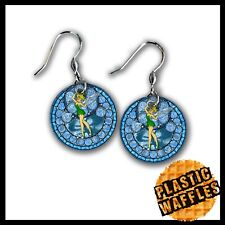 Tinkerbell Earrings - .75 inch Circle - Custom Made Round Earring Set