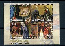 Niuafo'ou Tonga 2015 MNH Christmas Nativity Paintings 4v M/S Ghirlandaio Art