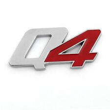Metal Bumper Trunk Grill Q4 Emblem Decal Badge Sticker Chrome Red For Maserati U