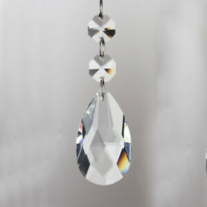 Sun catcher Hanging Crystal Rainbow Prism Feng Shui Mobile Wind Chime UK #37
