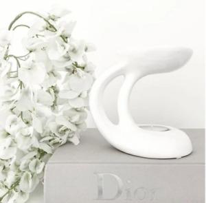 White Ceramic Wax Melt Oil Burner Tealight Holder Diffuser Ornament Gift Bali