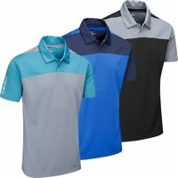 Stuburt Golf Mens Sport Tech Leyburn Moisture Wicking Golf Polo Shirt