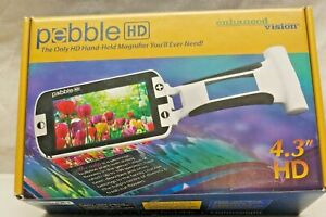 """PEBBLE ENHANCED VISION HD 4.3"""" HAND HELD MAGNIFIER. NO INSTRUCTION BOOK"""
