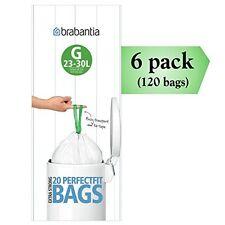 NEW Brabantia Smartfix G 30 Liter Bin Liners ~ 20 Ct Bags Pack of 6