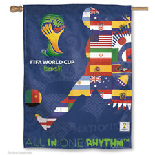 World Soccer Brazil National Team House Flag