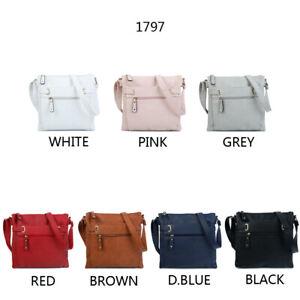 Women's Designer Made Multi Pocket/Compartment Medium Cross body Messenger Bag
