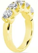 1.25 ct Round Diamond Band Wedding Anniversary U 14K Yellow Gold Ring 5 x .25 ct