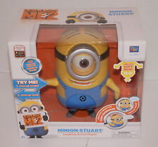 """DESPICABLE ME 2 MINION STUART LAUGHING 8"""" ACTION FIGURE 20012 NEW IN BOX"""