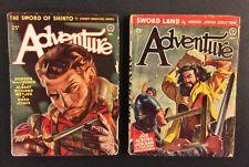 2 Vintage ADVENTURE PULP Magazines 1946 Fiction for Men Popular Publications