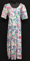 Storybook Heirlooms (Sz M) Long Pink Floral Modest Maxi Womens Romantic Dress