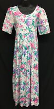 Storybook Heirlooms (Sz M) Long Pink Floral Modest Maxi Womens Romantic Dress