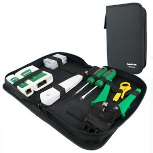Tool Kit   Networking Ethernet RJ45 Connectors Crimper P-Down Cable Tester