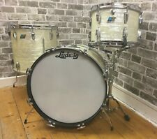 "Vintage Ludwig USA Blanc Marine Perle Classique Années 1970 13"" 16"" 20"" Drum Shell Pack"