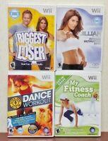 Biggest Loser, Dance Workout, Jillian 2010, Fitness Nintendo Wii / Wii U Games