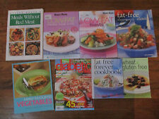 Secondhand Cooking Cookbook recipe fat free & low fat mix  Magazines  x 8