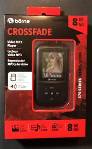 Crossfade Video MP3 Player 8GB Black Edition [ 370 Series Model MP370-8BK ] NEW