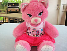 "2014 Build A Bear 18"" Pink Glittery Princess Cat With BAB Clothes Plush"
