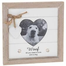 Woof Dog Photo Frame - Vintage Rustic Style With Sentiments 56890