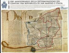2013 San Marino foglietto 550° determinazione confini di stato italia BF ** MNH