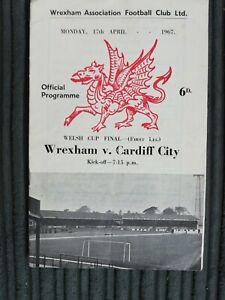 66/7 Wrexham vs Cardiff City (Welsh Cup Final 1st Leg)