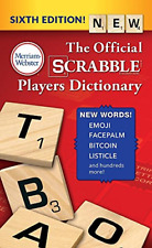 The Official SCRABBLE Players Dictionary, Sixth Ed. Mass Market Paperback 2018