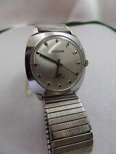 Vintage Bulova 17 Jewel Swiss Automatic Men's Watch 1960 Whale Logo Dial