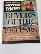 Vintage Motor Trend Magazine, July 1961, 1961 Buyer's Guide, Great Advertising
