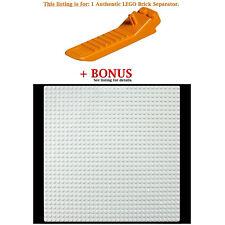 1 Authentic LEGO Separator. Plus Bonus White 10x10-inch compatible base plate