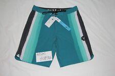 NWT Vissla Super Wolf Boardshorts Size 32 Green White Blue Dark Jade M1068SUP
