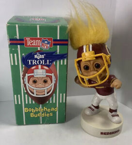 Vintage Washington Redskins Football 1992 Russ Bobblehead Troll -NEW IN BOX NOS