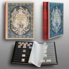 Prophila Nostalgie-Album III 60 schwarze Einsteckseiten für Briefmarken