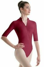 Lipstick Pink 3/4 Sleeve Leotard Zipper Front Body Wrappers Small Adult 2207 NWT
