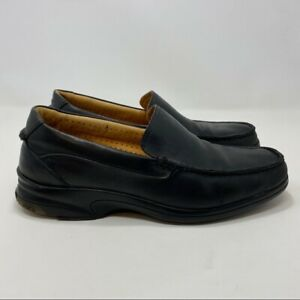 Sperry Top Sider Men's Black Leather Slip On Shoes Size 9.5