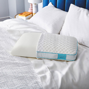 NEW Serenity by Tempur-Pedic Contour Memory Foam Pillow Proudly Assembled in USA