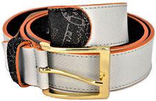 Cintura Donna Grigio/Nero Pelle Alviero Martini Belt Woman Grey/Black Leather