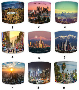 City Of Los Angeles Lampshades, Ideal To Match Hollywood Cushions & Covers