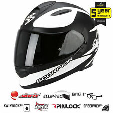 Cascos Scorpion color principal blanco talla XL para conductores