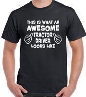Tractor Driver T-Shirt Farmer Farming Farm Mens Funny MF Massey Ferguson Awesome