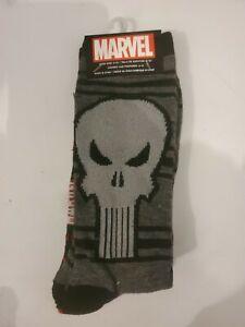 *NWT* Marvel Mens Punisher 2pk. Socks ~ 6-12 Shoe size