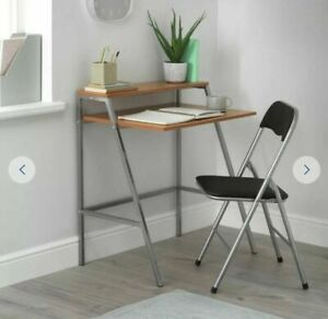 Home Office Desk and Chair Set - Black