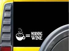Coffee Morning Wine Sticker L166 8 inch java coffee beans decal