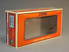 BOX ONLY LIONEL STATION PLATFORM non-lighted train set orange empty 6-24190-BOX